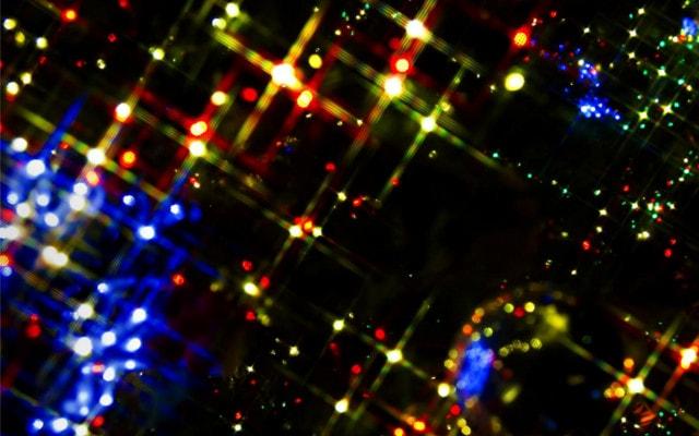 きらきら光るクリスマスツリー