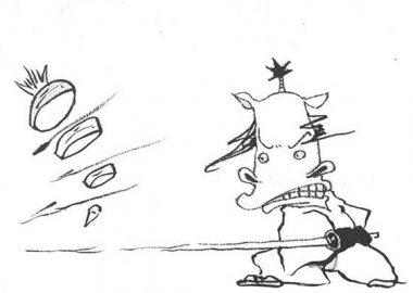 ばっさばっさと人参を切る馬