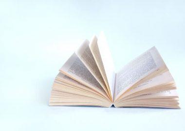 ぱたりぱたりと本が開く