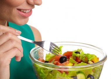 しゃっきりとしたサラダ