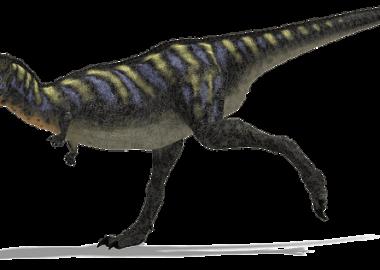 どしんどしんと走る恐竜
