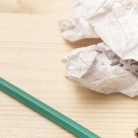 くちゃりとした紙
