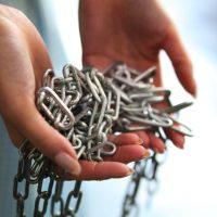 じゃらりとした鎖