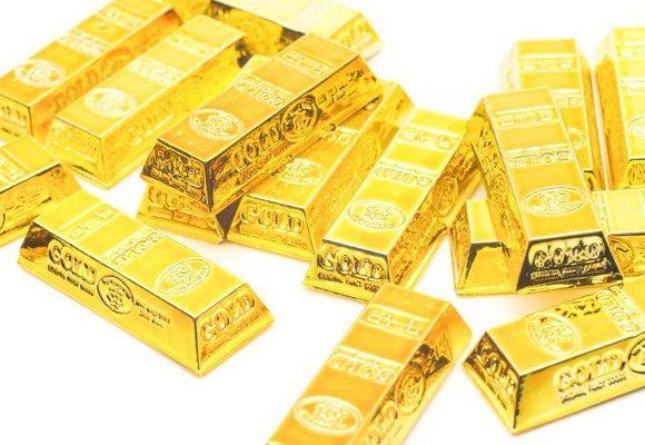 きんきらに光る金塊