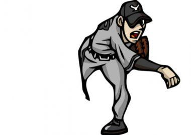 ぎゅんと勢いのあるボールを投げる投手