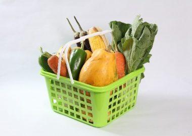 ごっそりと野菜を買い込む