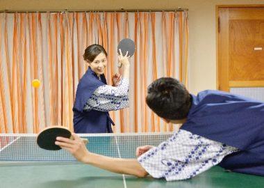 かっつんと卓球を楽しむ