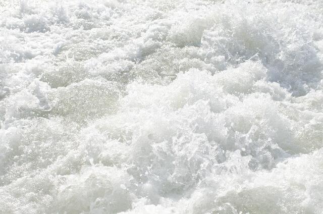 ばちゃばちゃと水面が激しく音を立てる
