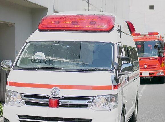 うーうーと救急車や消防車が走る